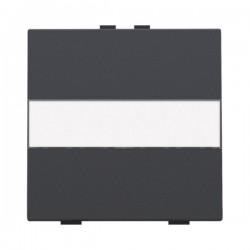 Niko  Manette simple avec porte-étiquette pour poussoir câble-bus ou RF, anthracite 122-00006
