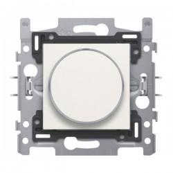 Niko Bouton poussoir 6A 250V AC avec anneau translucide et LED ambre, blanc 101-64000