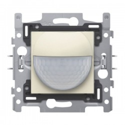 Niko Détecteur de mouvement intérieur 180° avec contact de commutation 10 A 230 V 8 m, crème 100-78010