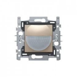 Niko Détecteur de mouvement intérieur 180° avec contact de commutation 10 A, 230 V, 8 m, champagne mat 157-78010